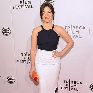 <p>America Ferrera was looking anything but Ugly Betty at the X/Y premiere styling out this super sexy Roland Mouret halter dress.</p>