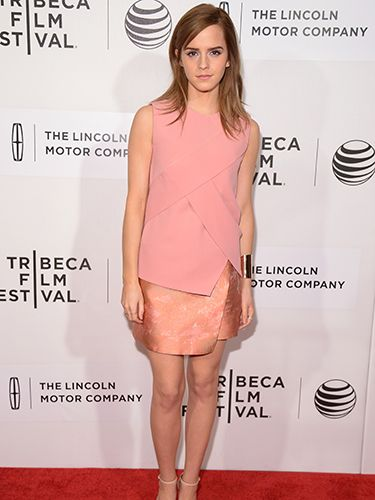 "<p>Emma Watson was pretty in pink as she stepped out in Narciso Rodriguez for the Boulevard premiere. The asymmetrical pink wrap dress looked amazing on Emma's slim figure, and she teamed the look with nude sandals.</p> <p><a href=""http://www.cosmopolitan.co.uk/fashion/shopping/What-to-pack-for-the-festivals-glastonbury-primavera"" target=""_blank"">FESTIVAL PACKING ESSENTIALS</a></p> <p><a href=""http://www.cosmopolitan.co.uk/fashion/shopping/10-wedding-guest-outfits-from-the-high-street"" target=""_blank"">10 WEDDING GUEST OUTFITS</a></p> <p><a href=""http://www.cosmopolitan.co.uk/fashion/shopping/Coachella-festival-street-style-2014-pictures"" target=""_blank"">COACHELLA STREET STYLE</a></p>"