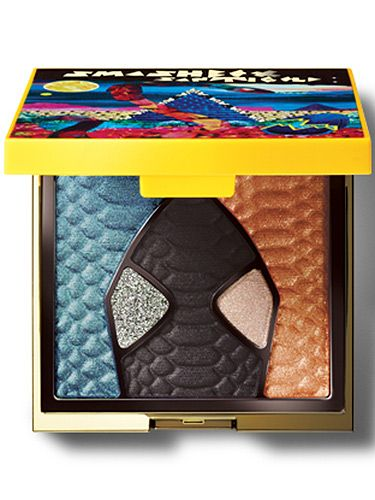 """<p>Smashbox do makeup very, very well and the brands new collaboration with vibing artist Santigold is a prime example. The Apocalypse Now eyeshadow palette is a wonder. Yes the packaging is the stuff of makeup junkies' dreams but what's inside is the most on-trend AND forever wearable shade selection. Look!</p> <p>The Santigolden Age Eye Shadow Collage, £25, <a href=""""http://www.smashbox.co.uk/collections/the-santigolden-age-summer-2014-collection"""" target=""""_blank"""">smashbox.co.uk</a></p> <p><a href=""""http://www.cosmopolitan.co.uk/beauty-hair/beauty-tips/how-to-wear-makeup-palettes"""" target=""""_blank"""">HOW TO WEAR SUMMER'S PRETTY MAKEUP PALETTES</a></p> <p><a href=""""http://www.cosmopolitan.co.uk/beauty-hair/beauty-tips/hair-kit-heroes-we-need"""" target=""""_self"""">THE 10 HAIR KIT HEROES EVERY GIRL NEEDS TO OWN</a></p> <p><a href=""""http://www.cosmopolitan.co.uk/beauty-hair/beauty-tips/makeup-bag-products-must-haves"""" target=""""_self"""">12 MAKEUP BAG MUST-HAVES YOU SHOULD KNOW ABOUT</a></p>"""