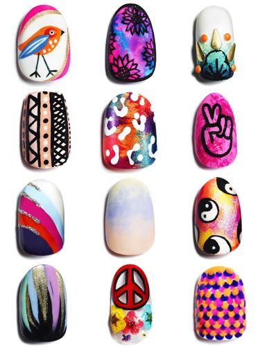 <p>Picked up the July issue of Cosmopolitan yet? Then you will have seen these AMAZING festival nail art designs, created by 12 of the top technicians in the country.</p> <p>Find your fave in our gallery, then use our step-by-step guide to master it yourself.</p> <p>And don't forget! Always finish your design with a good topcoat to seal in all that hard work.</p> <p>Happy camping!</p>