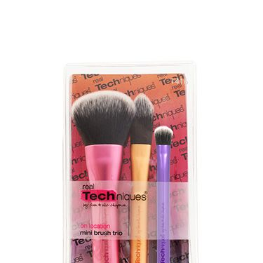 <p>No image can do justice to just how cute these are&#x3B; three small brushes that do the same work of tools that are thrice as big. Pretend you're an on location artist as you blend your makeup in, because, let's face it, your usual brushes just take up too much room.</p>