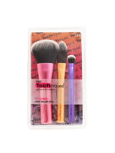 "<p>No image can do justice to just how cute these are; three small brushes that do the same work of tools that are thrice as big. Pretend you're an on location artist as you blend your makeup in, because, let's face it, your usual brushes just take up too much room.</p> <p><a href=""http://www.boots.com/en/Real-Techniques-Mini-Brush-Set_1457832/"" target=""_blank"">Real Techniques Mini Brush Trio, £9.99</a></p> <p><a href=""http://www.cosmopolitan.co.uk/beauty-hair/beauty-tips/holiday-beauty-packing-list?click=main_sr"" target=""_blank"">YOUR HOLIDAY BEAUTY PACKING LIST</a></p> <p><a href=""http://www.cosmopolitan.co.uk/beauty-hair/news/trends/celebrity-beauty/abbey-clancy-beauty-interview?click=main_sr"" target=""_blank"">ABBEY CLANCY'S EVERYTHING GUIDE TO SUMMER BEAUTY PRODUCTS</a></p> <p><a href=""http://www.cosmopolitan.co.uk/blogs/the-best-beauty-tips-from-around-the-world?click=main_sr"" target=""_blank"">THE BEST BEAUTY TIPS FROM AROUND THE WORLD</a></p>"