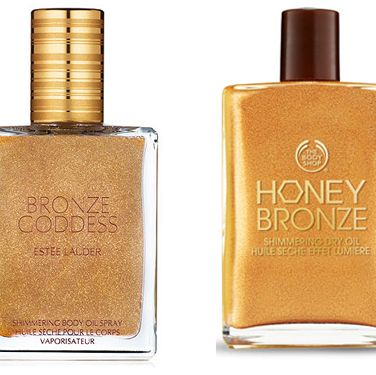 """<p><strong>The original: Estee Lauder Bronze Goddess Shimmering Body Oil, £29 <a href=""""http://www.esteelauder.co.uk"""" target=""""_blank"""">esteelauder.co.uk</a></strong><br /> Unless you buy this on the first day it goes on sale, you'll probably have to wait another year to get your paws on it – the entire collection literally sells out in record time year after year. It's probably best not to mention the gorgeous sheen it leaves, or the fact it smells of the now pretty-much-legendary Bronze Goddess fragrance… <strong></strong></p><p><strong>The dupe: The Body Shop Honey Bronze Shimmering Dry Oil, £16 <a href=""""http://www.thebodyshop.co.uk"""" target=""""_blank"""">thebodyshop.co.uk</a></strong> <br />The nice thing about this product is that it comes in two shades – Honey Kiss and Golden Honey – so you can pick the one that's right for you. It's not a spray on bottle but it is easy to apply, smells amazing and leaves a gorgeous summery sheen perfect for sunny evenings on the beach.</p>"""