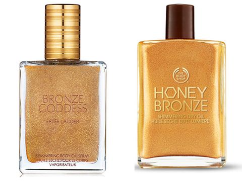 """<p><strong>The original: Estee Lauder Bronze Goddess Shimmering Body Oil, £29 <a href=""""http://www.esteelauder.co.uk"""" target=""""_blank"""">esteelauder.co.uk</a></strong><br /> Unless you buy this on the first day it goes on sale, you'll probably have to wait another year to get your paws on it – the entire collection literally sells out in record time year after year. It's probably best not to mention the gorgeous sheen it leaves, or the fact it smells of the now pretty-much-legendary Bronze Goddess fragrance… <strong></strong></p> <p><strong>The dupe: The Body Shop Honey Bronze Shimmering Dry Oil, £16 <a href=""""http://www.thebodyshop.co.uk"""" target=""""_blank"""">thebodyshop.co.uk</a></strong> <br />The nice thing about this product is that it comes in two shades – Honey Kiss and Golden Honey – so you can pick the one that's right for you. It's not a spray on bottle but it is easy to apply, smells amazing and leaves a gorgeous summery sheen perfect for sunny evenings on the beach.</p>"""