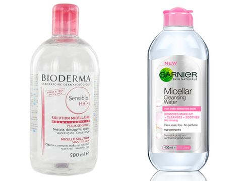 <p><strong>The original: Bioderma Sensibio H20 Micelle Solution, £14.50 </strong><br />The original and arguably the best, Bioderma is the brand that started the whole cleansing water trend in the UK. Sensibio launched in the UK last summer and it's still currently only available online and in select pharmacies, thus meaning it's not the easiest to get hold of. Plus, it's also a lot more expensive here than it is in France – if our memories serve us right it's about £12 for <em>two</em>500ml bottles of the stuff over there and it the UK it's almost £15 for just one. But still, we say it's worth every penny and if you can afford it, definitely do it.</p> <p><strong>The dupe: Garnier Micellar Water, £4.99 </strong><br />Admittedly there's been <em>a lot</em> of more expensive micellar waters around, there's also been a good amount of cheaper ones too. However, the latter usually don't tend to live up to expectations but this one by Garnier is bloody good. The fact it's under a fiver for 400ml was enough to make us pay attention, but turns out it's genuinely impressive too and on par with Bioderma.</p>
