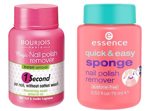 "<p><strong>The original: Bourjois Magic Nail Polish Remover, £4.99 <a href=""http://www.boots.com"" target=""_blank"">boots.com</a></strong><br />The launch of this caused an absolute stir in the beauty world and it wasn't long before a whole host of similar products came along. It's such a simple but effective idea, and why did it take so long for someone to come up with this? Simply dip your painted finger in the pot, twist it around and remove – et voila, clean nails ready for redecorating.</p> <p><strong>The dupe: Essence Quick & Easy Sponge Nail Polish Remover, £2.99 (available at Wilko nationwide from next month)</strong><br />We were a bit skeptical about this but actually, Essence as a brand has impressed us. It's due to make its UK debut next month in Wilko (available now in Westfield White City, London) and this for us is a hero product of the range. Ok, so the packaging isn't as attractive as Bourjois but the sponge is super soft (v important!), it removes polish a treat and it isn't at all drying. Amazing.</p>"