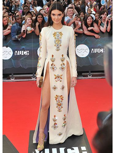 "<p>Risqué was most definitely the name of Kendall's game with this showstopping number. No need for knickers with the adventurous cut of her embellished cream gown. Thank goodness there wasn't too strong a wind in downtown Toronto, eh, or we might all have seen a bit more than we bargained for...</p> <p><a href=""http://www.cosmopolitan.co.uk/fashion/news/get-the-look-fearne-cotton-floral-dress"" target=""_blank"">FEARNE COTTON'S GORGEOUS DRESS IS LESS THAN £30 ON THE HIGH STREET</a></p> <p><a href=""http://www.cosmopolitan.co.uk/fashion/news/swimwear-bikinis-small-busts-boobs"" target=""_blank"">SUMMER SWIMWEAR FOR SMALL BREASTS</a></p> <p><a href=""http://www.cosmopolitan.co.uk/fashion/news/swimwear-bikinis-big-curvy-busts-boobs"" target=""_blank"">SUMMER SWIMWEAR FOR BIG BREASTS</a></p>"