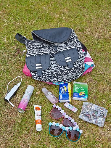 "<p><strong>Alex Coles, 27, from Bournemouth</strong></p> <p class=""p1"">""My bag is H&M and I've got <em>loads</em> in it. I've got my unicorn poncho from Booho.com in case it rains, loads of cold and flu medicine (I've got the lurgi) and hand sanitiser. I've got a small purse for coins, chewing gum, Impulse spray, a phone charger for emergencies and two pairs of sunnies from a bargain home store in Bournemouth.""</p> <p><a href=""http://www.cosmopolitan.co.uk/fashion/news/festival-fashion-street-style-isle-of-wight"" target=""_blank"">CHECK OUT THE FESTIVAL FASHION AT THE ISLE OF WIGHT FESTIVAL</a></p> <p><a href=""http://www.cosmopolitan.co.uk/campus/summer-full-festivals-cheap-volunteering?click=main_sr"" target=""_blank"">6 WAYS TO BAG A SUMMER FULL OF FESTIVALS ON THE CHEAP</a></p> <p><a href=""http://www.cosmopolitan.co.uk/fashion/shopping/festival-season-essentials?click=main_sr"" target=""_blank"">ALL THE FESTIVAL ESSENTIALS YOU COULD EVER WANT OR NEED</a></p>"