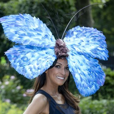 """<p>This butterfly hat is beautifully, brilliantly bonkers. Bravo, Jackie St Clair for amping up your navy dress.</p><p><a href=""""http://www.cosmopolitan.co.uk/fashion/news/floppy-hat-trend?click=main_sr"""" target=""""_blank"""">THE RETURN OF THE HAT - THE MOST ON TREND STYLES</a></p><p><a href=""""http://www.cosmopolitan.co.uk/fashion/news/milliner-stephen-jones-on-new-debenhams-collection-and-hat-wearing-etiquette?click=main_sr"""" target=""""_blank"""">MILLINER STEPHEN JONES ON HAT-WEARING ETIQUETTE</a></p><p><a href=""""http://www.cosmopolitan.co.uk/fashion/shopping/isle-of-wight-festival-what%27s-in-your-bag"""" target=""""_blank"""">WHAT'S IN YOUR FESTIVAL BAG?</a></p>"""
