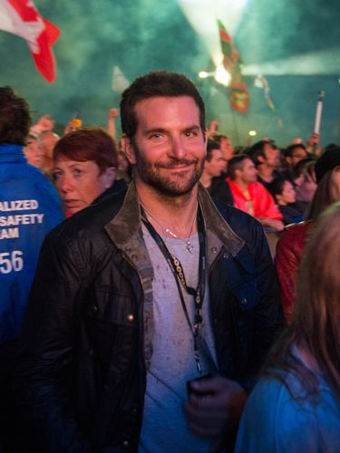 """<p>With an 'okay, you caught me' look on his face, Bradley Cooper takes in Metallica. We bet he thought he'd gone incognito before this photographer snapped his pic.</p> <p><a href=""""http://www.cosmopolitan.co.uk/celebs/entertainment/2014-music-festival-guide"""" target=""""_blank"""">THE 2014 MUSIC FESTIVAL GUIDE</a></p> <p><a href=""""http://www.cosmopolitan.co.uk/beauty-hair/beauty-tips/the-best-summer-festival-nail-art-designs-how-to"""" target=""""_blank"""">12 OF THE BEST FESTIVAL NAIL ART DESIGNS</a></p> <p><a href=""""http://www.cosmopolitan.co.uk/fashion/shopping/festival-season-essentials"""" target=""""_blank"""">YOUR FESTIVAL SEASON ESSENTIALS</a></p>"""