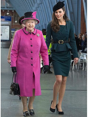 "<p>Woo hoo! It's officially spring, Kate Middleton has her (enviable) legs out! Doesn't she look stunning in her teal LK Bennett outfit? The Duchess joined the Queen on her visit to Leicester De Montfort University, which marks the first date of Queen Elizabeth II's Diamond Jubilee tour of the UK. We have to say, we're loving Queenie in her fuschia pink ensemble, but it's Kate's Jude jacket and Davina dress that we're lusting over. Kate is right on trend with the subtle peplum detailing. See our pick of the best peplum pieces <a title=""http://www.cosmopolitan.co.uk/fashion/ten-of-the-best-pretty-peplums?click=main_sr"" href=""http://www.cosmopolitan.co.uk/fashion/ten-of-the-best-pretty-peplums?click=main_sr"" target=""_self"">here</a><br /> </p>"