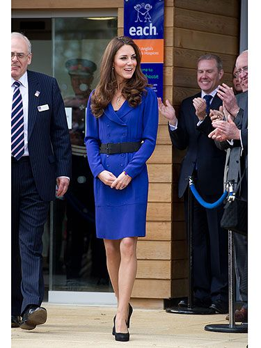 <p>Just like any girl, Kate Middleton loves dressing up in her mum's clothes! When she stepped out in this gorgeous ROYAL blue Reiss dress, we noticed it was identical to the one her mother Carole wore to Royal Ascot in 2010. The Duchess snapped it up a while back for a cool £139 and we guess it was the perfect way to boost her confidence before her first public speech!</p>