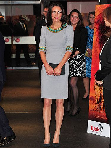<p>Wow! Is it just us or is this Kate Middleton's most fashion forward look to date? We love the sleek two-piece Matthew Williamson outfit she wore to the premiere of African Cats. It's from his pre-fall 2012 collection which means she's way ahead of the fash pack - go KMiddy!</p> <p>Kate accessorised her fabulous peplum number with a pair of bright blue topaz and diamond earrings by Kiki McDonaugh and co-ordinated the lot with heels and a clutch bag, both by Emmy Shoes. We can't wait to see what she wears next...</p>