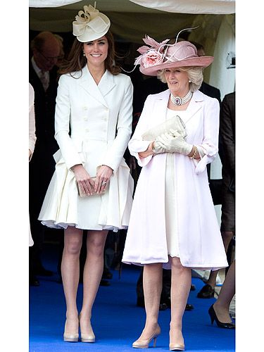 <p>Kate Middleton just loves a bit of Alexander McQueen, doesn't she? No wonder Sarah Burton's all set for an OBE – for services to dressing the next Queen of England, maybs? KMiddy joined the rest of the royals at the Order of the Garter service wearing a pale yellow dress coat by McQueen and a regal looking hat by esteemed milliner Jane Corbett (who also created her headgear for Saturday's Trooping the Colour Parade). That's our wedding guest outfit inspiration, right there. Thanks Kate!</p>