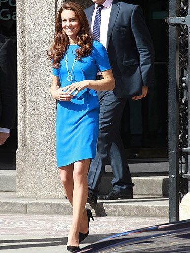 <p>Kate Middleton looked tres chic as she visited the Road to 2012: Aiming High Exhibition. We think she looks stunning in her electric blue Stella McCartney dress - don't you just love it when KMiddy flies the flag for British fashion? She teamed her blue dress with Prada heels and a necklace that looks very much like a subtle nod to the Olympic rings, dontcha think?</p>