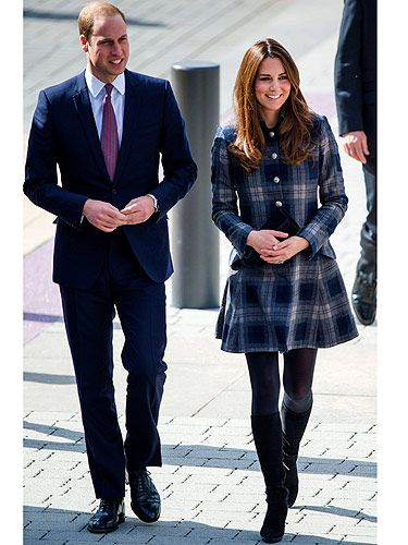 <p>The Duchess of Cambridge has braved the chilly temperatures to visit Glasgow in Scotland. And get this, KMiddy, who is believed to be around five-and-half months pregnant, wore a coat that is THIS season, AND available to buy now. Yep, that's right, the plaid 'Worker's Coat' by British heritage label Moloh was her coat of choice, and it's priced at £425. Well, when we say it's available now, it won't take long for it to be a sell-out - it is Kate Middleton after all.<br /><br /></p>