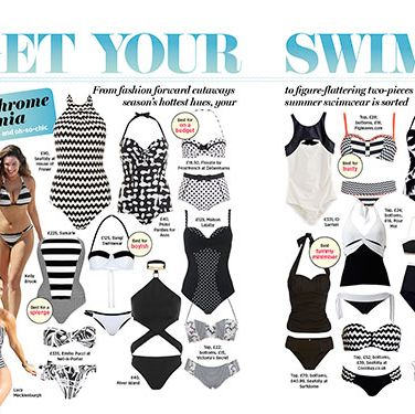 <p>From fashion forward cutaways to figure flattering two-pieces in the season's hottest hues, we've got your summer swimwear sorted. With more than 65 bathing suits, get ready to feel and look fab in the sun.</p>