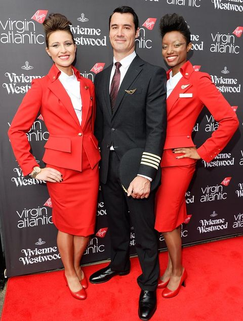 <p>Just how sexy do these guys look?</p> <p>Not only has Westwood given the look of the Virgin suits a high fashion makeover but she's also introduced sustainability to the uniform.</p> <p>The polyester yarn is made from recycled bottles and the special nano finish helps prolong the life and colour of the clothes.</p> <p>Beautiful AND sustainable? We're fully on-board.</p>