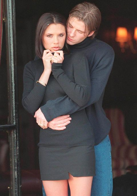<p>Ahh the beginning, before Victoria was a Beckham and either of them would leave the house without matching outfits. We miss these days...</p>