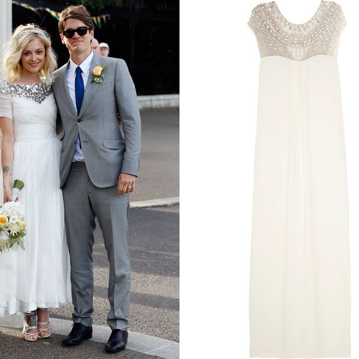 """<p>This weekend the gorgeous <a href=""""http://www.cosmopolitan.co.uk/fashion/news/fearne-cotton-wedding-dress-photos"""" target=""""_blank"""">Fearne Cotton got married in typically beautiful style</a>. The star selected a heavily embellished Emilio Pucci gown for her big day and the whole world went 'ahh' when the pictures were released.</p><p>Want to channel the Radio One DJ on your big day and be guaranteed to wow your whole party? This Temperley London gown, at a reduced price of £1,750 on <a href=""""http://www.theoutnet.com/en-GB/product/Temperley-London/Crystal-embellished-crepe-column-gown/379657"""" target=""""_blank"""">The Outnet</a>, will give you the same sparkle and effortless style Fearne had on her wedding day.</p><p><em><strong>Click through the gallery to get the bridal look as inspired by Olivia Palermo, Poppy Delevingne and more...</strong></em></p>"""