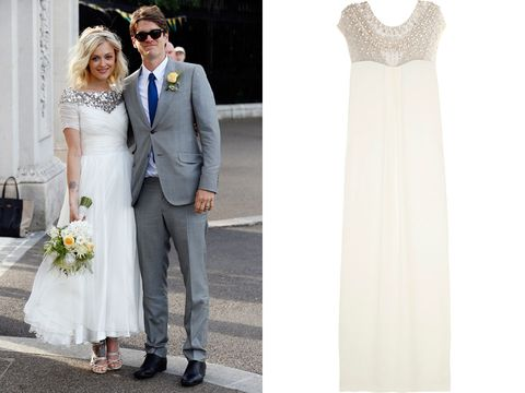 """<p>This weekend the gorgeous <a href=""""http://www.cosmopolitan.co.uk/fashion/news/fearne-cotton-wedding-dress-photos"""" target=""""_blank"""">Fearne Cotton got married in typically beautiful style</a>. The star selected a heavily embellished Emilio Pucci gown for her big day and the whole world went 'ahh' when the pictures were released.</p> <p>Want to channel the Radio One DJ on your big day and be guaranteed to wow your whole party? This Temperley London gown, at a reduced price of £1,750 on <a href=""""http://www.theoutnet.com/en-GB/product/Temperley-London/Crystal-embellished-crepe-column-gown/379657"""" target=""""_blank"""">The Outnet</a>, will give you the same sparkle and effortless style Fearne had on her wedding day.</p> <p><em><strong>Click through the gallery to get the bridal look as inspired by Olivia Palermo, Poppy Delevingne and more...</strong></em></p>"""