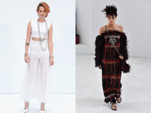 <p>It was the Kristen and Kendall show in Paris on Tuesday as both stars played their part in the Chanel catwalk show at Haute Couture fashion week.</p> <p>While Kristen lead the charge of stylish celebs on the front row, Kendall Jenner stood out on the runway for the design house.</p> <p>Both stars were sporting never-seen-before hairstyles - Kristen's perhaps a tad more permanent than Kendall's - and were looking chic in their Chanel get-up.</p> <p>Jared Leto, Lily Cole and Poppy Delevingne also attended the show.</p> <p><em><strong>Click through the gallery to see more pictures...</strong></em></p> <p><em><strong><br /></strong></em></p>