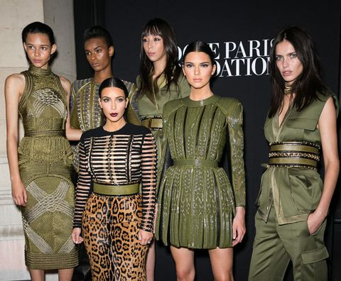 <p>An army of Balmain-clad beauties, including one Kim Kardashian and one Kendall Jenner, rocked Paris last night with their steely but oh-so special gala appearance.</p> <p>The ladies were in town for the Vogue Foundation Gala as part of Haute Couture Fashion Week and arrived on the arm of Balmain creative director Olivier Rousteing.</p> <p><span>Alongside Kim and Kendall, the glitzy event was also attended by the likes of Emma Watson, Karlie Kloss and Joan Smalls.</span></p> <p><em><strong>Click through the gallery to see all the pictures from the event...</strong></em></p>