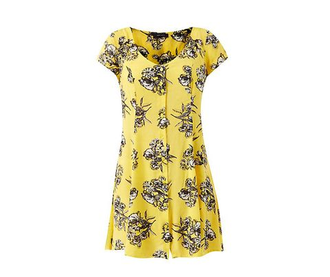 """<p>If this sunny-yellow, floral dress doesn't cheer you up, we're all out of ideas...</p> <p><a href=""""http://www.newlook.com/shop/womens/dresses/yellow-button-front-floral-print-tea-dress-_316713189"""" target=""""_blank"""">Yellow button-front floral print tea dress, £19.99, New Look</a></p>"""