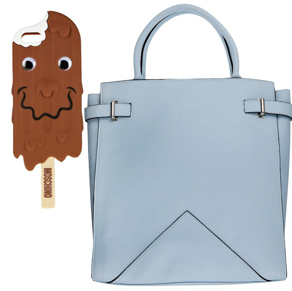 "<p>Compliment your case with a pastel bag fitting in with your ice cream theme. <a href=""http://www.dorothyperkins.com/en/dpuk/product/accessories-203537/bags-purses-2230520/pale-blue-large-tab-tote-bag-3025756?refinements=Colour%7b1%7d~%5bblue%5d&bi=1&ps=200"" target=""_blank"">This tote bag from Dorothy Perkins</a> is also large enough for all your other travel necessities.</p>