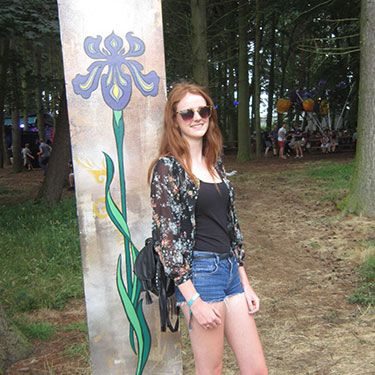 """<p><strong>Emily, 19, London</strong></p><p>We were grabbed by the lovely Emily's leather fringe bag, which she paired with a sheer floral blouse to stand out from her plain vest top and jean shorts. Her boots were not only brilliantly appropriate for all the inevitable mud, but they look chic too. </p><p><a href=""""http://www.cosmopolitan.co.uk/fashion/news/festival-fashion-street-style-isle-of-wight"""" target=""""_blank"""">ISLE OF WIGHT FESTIVAL STREET STYLE</a></p><p><a href=""""http://www.cosmopolitan.co.uk/fashion/news/glastonbury-festival-street-style-2014"""" target=""""_blank"""">GLASTONBURY STREET STYLE</a></p><p><a href=""""http://www.cosmopolitan.co.uk/celebs/celebrity-gossip/celebrities-at-glastonbury-festival-2014"""" target=""""_blank"""">GLASTONBURY CELEB STYLE</a></p><p><em><span class=""""s1"""">Peugeot celebrated the launch of the </span>New Peugeot 108 this weekend at Latitude</em></p>"""