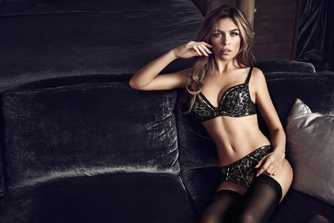 "<p>Abbey looked gorgeous modelling the new Ultimo sets. Our favourite is this leopard-print bra and matching briefs, (Hallie bra, £35, thong,£16, short, £18), designed to embrace the female shape with its glamourous edge. </p> <p class=""p1""><a href=""http://www.cosmopolitan.co.uk/fashion/celebrity/celebrity-style-july-2014"" target=""_blank"">THIS WEEK'S BEST CELEBRITY FASHION</a></p> <p><a href=""http://www.cosmopolitan.co.uk/fashion/shopping/best-summer-swimwear"" target=""_blank"">20 SWIMSUITS THAT WILL MAKE YOU LOOK GREAT</a></p> <p><a href=""http://www.cosmopolitan.co.uk/fashion/news/selena-gomez-italian-style-streak"" target=""_blank"">SELENA GOMEZ' ITALIAN STYLE STREAK</a></p>"