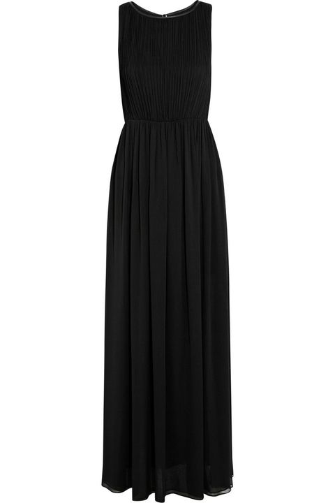 "<p>A special occasion like one of your bessies tying the knot calls for something that little bit extra. Splash out on <a href=""http://www.theoutnet.com/en-GB/product/Alice-and-Olivia/Jaydn-leather-trimmed-crinkled-chiffon-maxi-dress/449968"" target=""_blank"">this Alice and Olivia dress</a> and you'll be able to wear it over and over again.</p> <p><a href=""http://www.cosmopolitan.co.uk/fashion/celebrity/celebrity-maternity-style-inspiration"" target=""_blank"">MORE A-LIST INSPIRATION: HOW TO STYLE MATERNITY WEAR</a></p> <p><a href=""http://www.cosmopolitan.co.uk/fashion/shopping/embellished-phone-cases"" target=""_blank"">THE BEST IPHONE CASES FOR YOUR HANDBAG</a></p>"