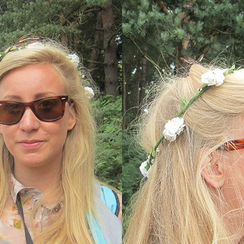 """<p><strong>Daisy, 22, Frinton-on-Sea</strong></p><p>Daisy's delicate flower garland looked gorgeous with her long blonde hair. Tying half of her hair up to keep it out of her face while on important pixie duties, she looks the image of fesival-chic.</p><p><a href=""""http://www.cosmopolitan.co.uk/beauty-hair/news/trends/celebrity-beauty/festivals-2014-makeup-hair-celebrity-inspiration"""" target=""""_blank"""">CELEB FESTIVAL BEAUTY INSPIRATION</a></p><p><a href=""""http://www.cosmopolitan.co.uk/beauty-hair/beauty-tips/hair-how-to-quiff-with-bun"""" target=""""_blank"""">HAIR HOW TO: THE QUICK QUIFF BUN</a></p><p><a href=""""http://www.cosmopolitan.co.uk/beauty-hair/beauty-tips/hair-how-to-quiff-with-bun"""" target=""""_blank"""">IS HAND ART THE NEW NAIL ART?</a></p><p><em><span class=""""s1"""">Peugeot celebrated the launch of the </span>New Peugeot 108 this weekend at Latitude</em></p>"""