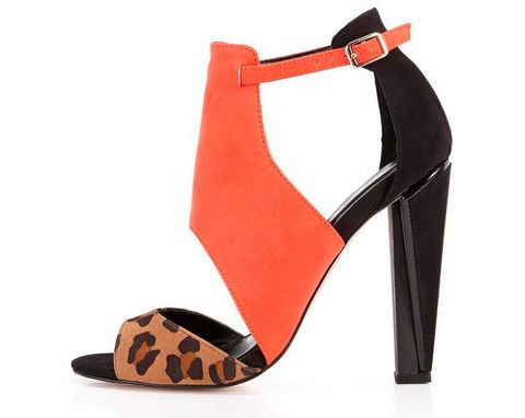 "<p>When you live in a city but love the tribal trends, then the solution is to combine a sexy heel with an African print. I love the earthy burnt orange tone on<a href=""http://www.very.co.uk/miss-kg-earl-sandals/1401629881.prd?_requestid=301906"" target=""_blank""> these animal print sandals</a>, wear with a funky leopard playsuit, £86.</p> <p><a href=""http://www.cosmofashfest.co.uk/vote#main-content"" target=""_blank"">COSMO FASHION AWARDS: VOTE FOR YOUR FAVOURITE BRAND FOR HEELS</a></p> <p><a href=""http://www.cosmofashfest.co.uk/"" target=""_blank"">BUY TICKETS TO FASHFEST</a></p>"