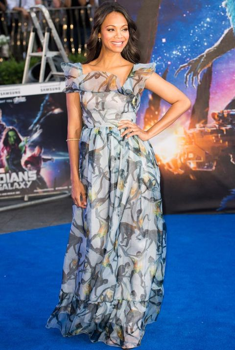 "<p>Mum-to-be Zoe looked positively beautiful at the premiere of Guardians of the Galaxy. The actress disguised her bump in this stunning Valentino gown, wearing her hair down to complement the pretty look.</p> <p><a href=""http://www.cosmopolitan.co.uk/fashion/shopping/best-summer-swimwear"" target=""_blank"">20 SWIMSUITS THAT WILL MAKE YOU LOOK GREAT</a></p> <p><a href=""http://www.cosmopolitan.co.uk/fashion/news/selena-gomez-italian-style-streak"" target=""_blank"">SELENA GOMEZ' ITALIAN STYLE STREAK</a></p> <p><a href=""http://www.cosmopolitan.co.uk/fashion/news/selena-gomez-italian-style-streak"" target=""_blank"">THE BEST MIRRORED SUNGLASSES</a></p> <div> </div>"