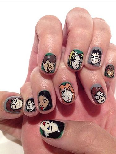 Wow Katy Perry Does 90s Daria Nail Art