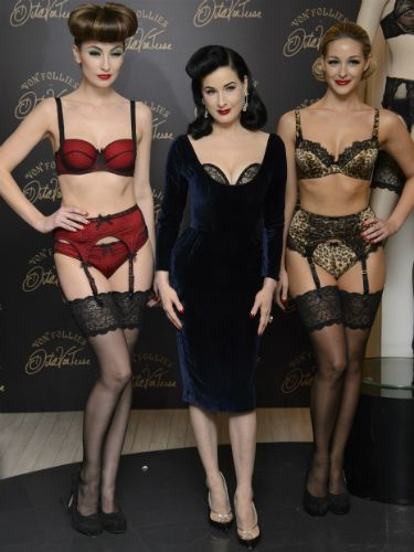 4be69a606688 Dita Von Teese shows off lingerie line