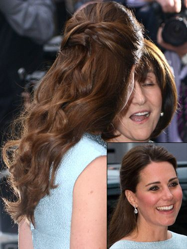 How To Copy Kate Middletons Half Up Down Hairstyle