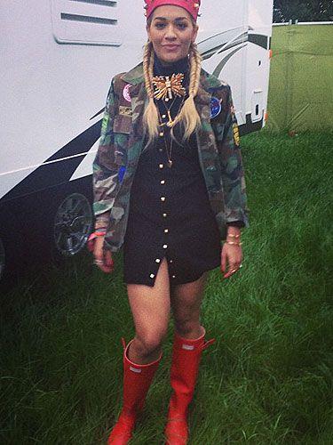 4c689b050a2 Rita Ora's Glasto Hunter Headliner wellies now available to buy!