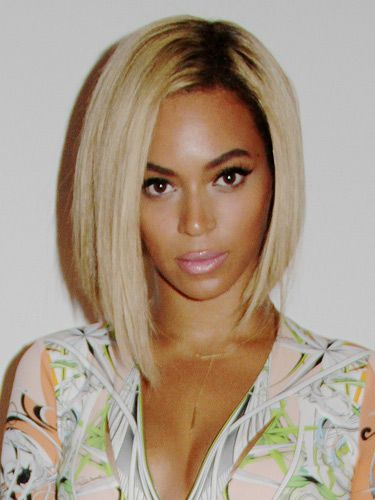Beyonce Shows Off New Hairstyle Long Blonde Bob Pictures