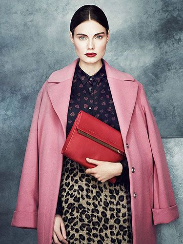 Marks and Spencer winter fashion trends 2013 :: M&ampS pink coat