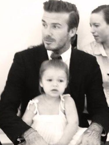 2826a73c5ae1 David Beckham's got something of a knack for turning up unannounced (if  somewhat expected) in public with his adorable daughter Harper Seven,  cracking out a ...