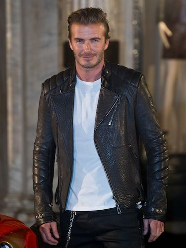 6e894660e David Beckham looks good in leather | Celebrity Gossip