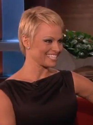 Pamela Anderson New Short Pixie Cut Hair On The Ellen Show