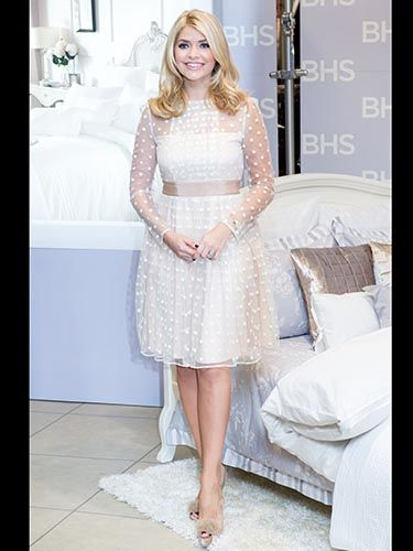Holly Willoughby S Polka Dot White Dress Celebrity Style