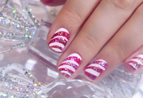 How to do christmas candy cane nail art step by step pictures advertisement continue reading below prinsesfo Choice Image