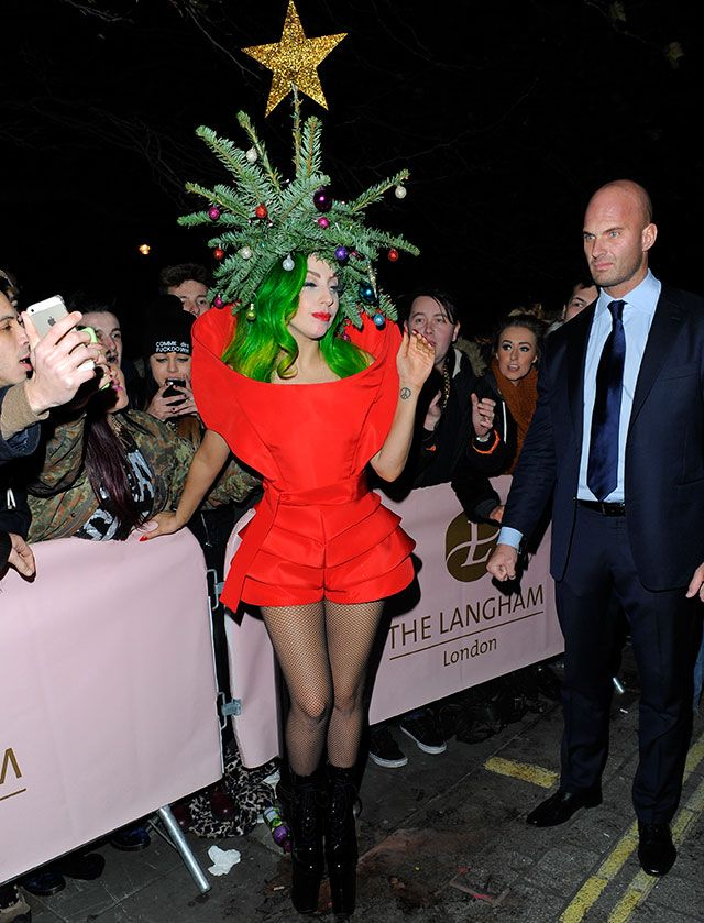 Lady Gaga Gets Festive And Dresses As Christmas Tree Photos Of  - Lady Gaga Christmas Tree Youtube