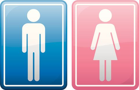 People are loving this supermarket's unisex toilet sign