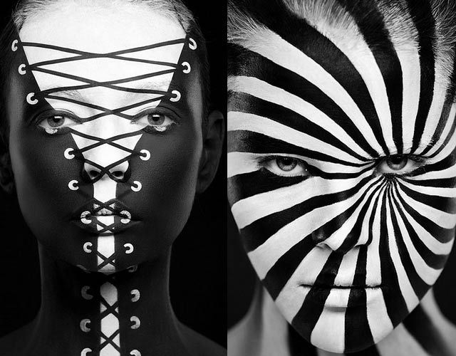Russian Makeup Artist Paints Models Into Optical Illusions D - Mind blowing optical illusion