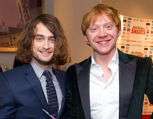 Daniel radcliffe and his long hair extensions join rupert grint at harry or should we say hairy potter star daniel radcliffe was out on the town with former co star rupert grint this week as they attended the whatonstage pmusecretfo Choice Image
